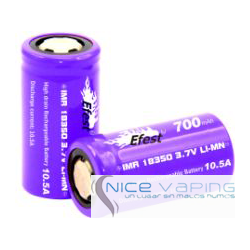 Efest 18350 IMR Flat Purple, 700mah, 10.5 A