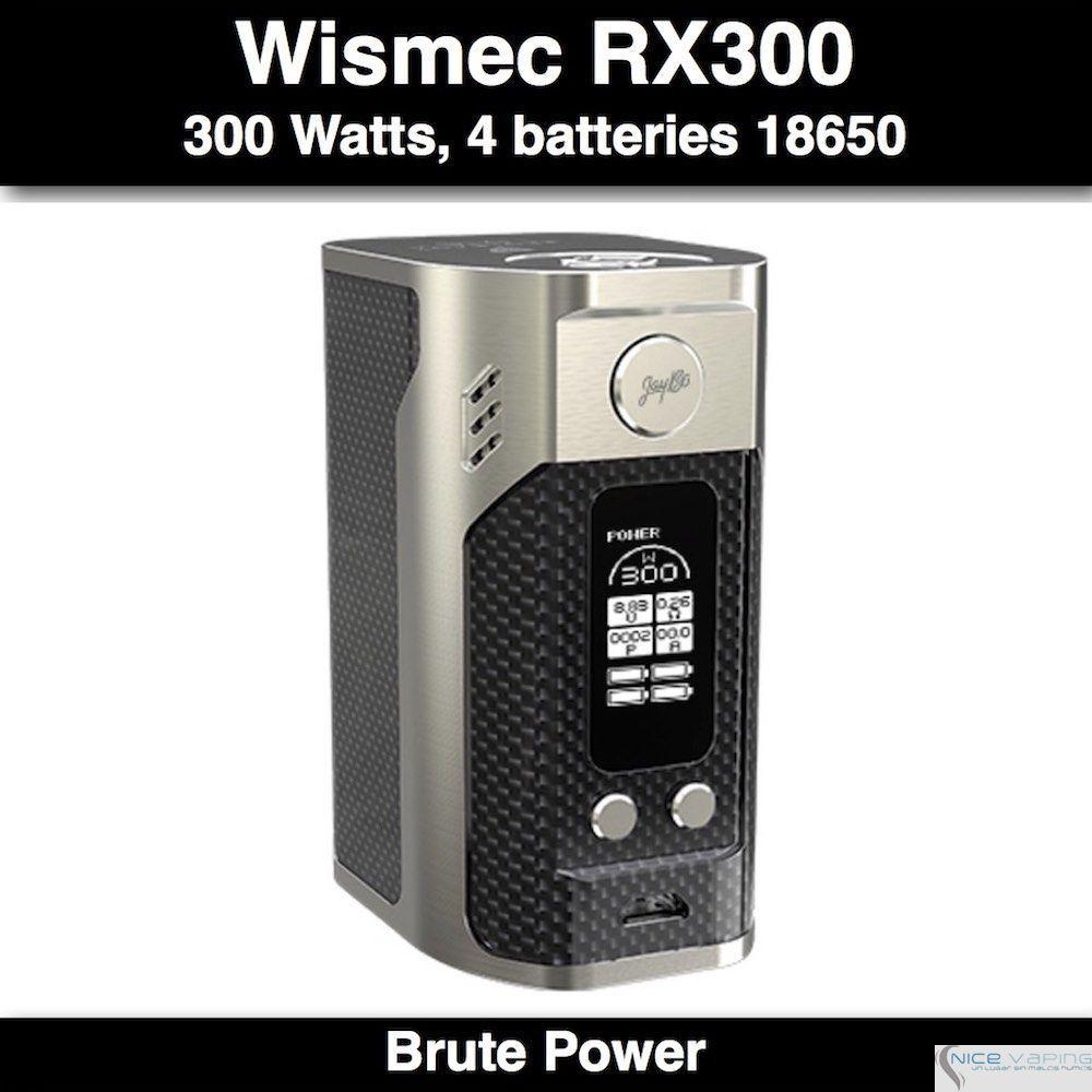 Reuleaux RX300 Wismec 300W @4 Batteries