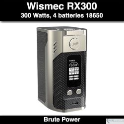 Reuleaux RX300 Wismec 300W @4 Baterias