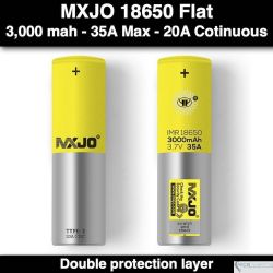 MXJO 18650 Flat Yellow 3000mah 35A